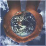 hands cupping earth